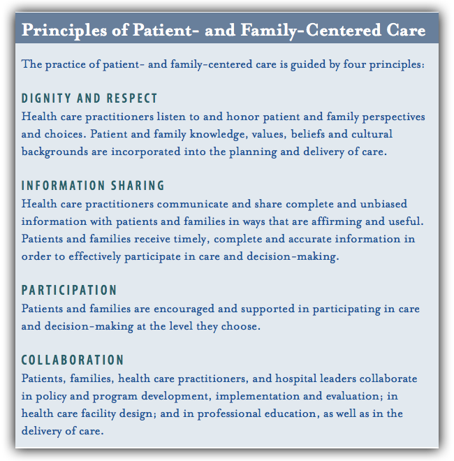 PFCC Principles for Patient Satisfaction