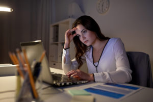 woman who is stressed out